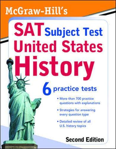 9780071609265: McGraw-Hill's SAT Subject Test: United States History 2/E (McGraw-Hill's SAT U.S. History)