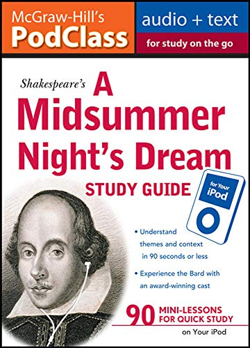 9780071611510: McGraw-Hill's PodClass A Midsummer Night's Dream Study Guide (MP3 Disk)