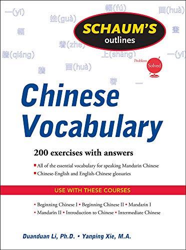 9780071611602: Schaum's Outline of Chinese Vocabulary (Schaum's Outlines)