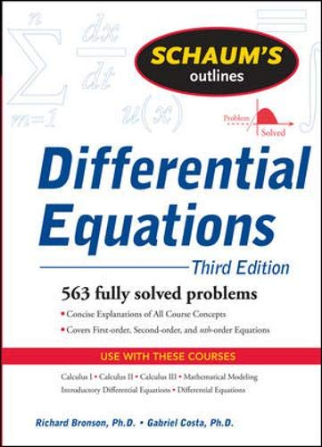 9780071611626: Schaum's Outline of Differential Equations, 3ed (Schaum's Outline Series)