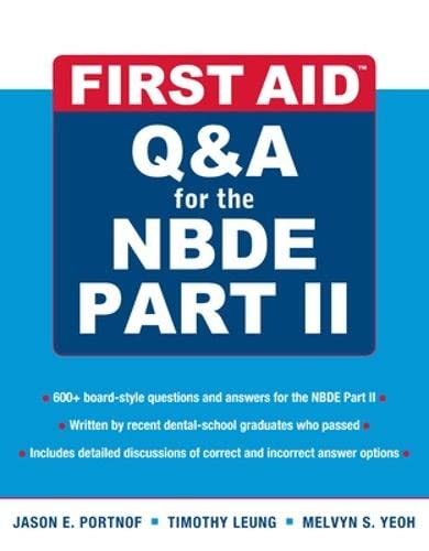 First Aid Nbde Part by Jason Portnof, First Edition - AbeBooks