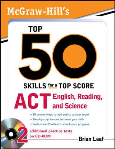 9780071613873: McGraw-Hill's Top 50 Skills for a Top Score: ACT English, Reading, and Science