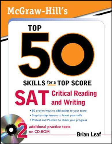 9780071613958: McGraw-Hill's Top 50 Skills for a Top Score: SAT Critical Reading and Writing