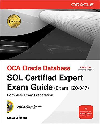 9780071614214: OCA Oracle database SQL certified expert exam guide (exam 1Z0-047)