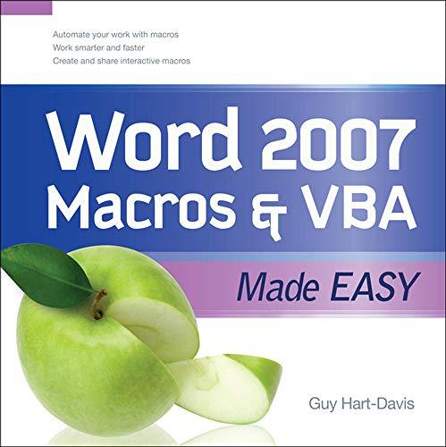 9780071614795: Word 2007 Macros & VBA Made Easy (Made Easy Series)