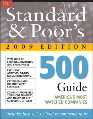 9780071615150: Standard & Poor's 500 Guide 2009