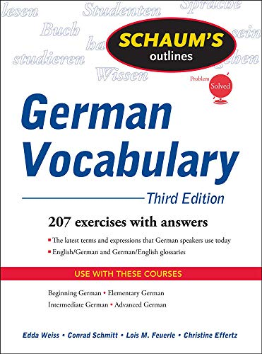 9780071615471: Schaum's Outline of German Vocabulary, 3ed (Schaums' Humanities Social Science)