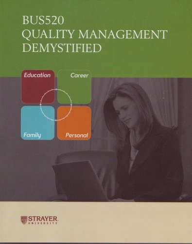 9780071621328: Quality Management Demystified (Bus520) (Strayer University)
