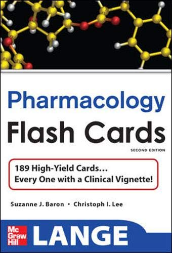 9780071622417: Lange Pharmacology Flash Cards (Lange Flashcards)