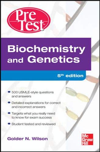 9780071623483: Biochemistry and Genetics: Pretest Self-Assessment and Review, Fourth Edition