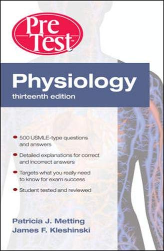 9780071623506: Physiology: PreTest Self-Assessment and Review, Thirteenth Edition (PreTest Basic Science)