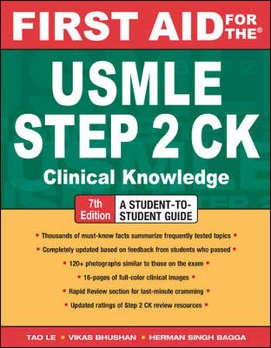 9780071623544: First Aid for the USMLE Step 2 CK, Seventh Edition (First Aid USMLE)