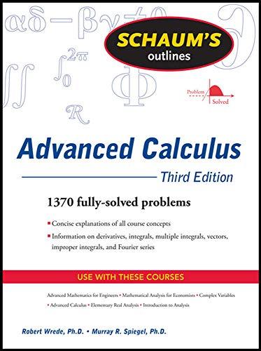 9780071623667: Schaum's Outline of Advanced Calculus, Third Edition