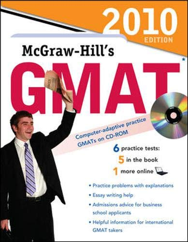 9780071624169: McGraw-Hill's GMAT with CD-ROM, 2010 Edition