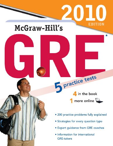9780071624268: McGraw-Hill's GRE, 2010 Edition (Mcgraw-Hill's Gre (Book Only))