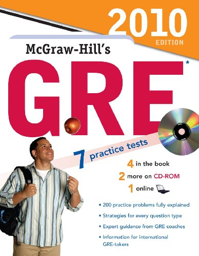 9780071624305: McGraw-Hill's GRE with CD-ROM, 2010 Edition (McGraw-Hill's GRE (W/CD))