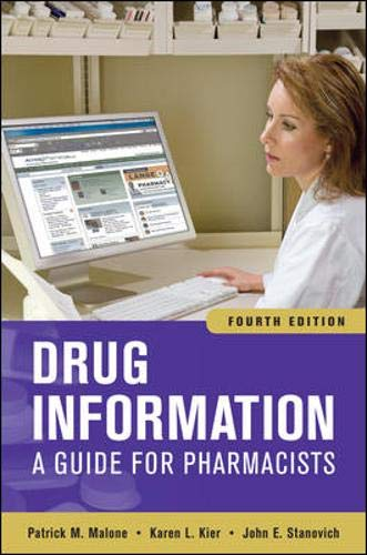 9780071624954: Drug Information: A Guide for Pharmacists, Fourth Edition (Drug Information (McGraw-Hill))