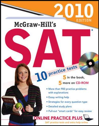 9780071625500: McGraw-Hill's SAT with CD-ROM, 2010 Edition (Mcgraw Hill Education Sat)