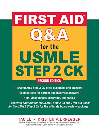 9780071625715: First Aid Q&A for the USMLE Step 2 CK, Second Edition (First Aid USMLE)