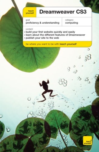 9780071625807: Teach Yourself Dreamweaver CS3 (Teach Yourself: Computers)