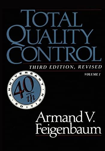 9780071626286: Total Quality Control, Vol. 1