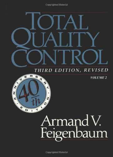 9780071626293: Total Quality Control, Revised (Fortieth Anniversary Edition), Volume 2