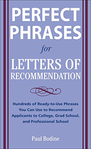 9780071626545: Perfect Phrases for Letters of Recommendation (Perfect Phrases Series)