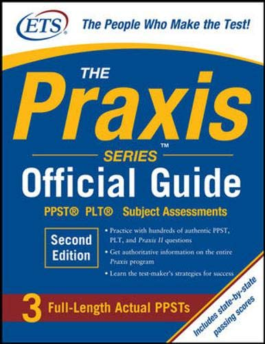 9780071626569: The Praxis Series Official Guide, Second Edition: PPST® Pre-Professional Skills Test (The Official Guide)