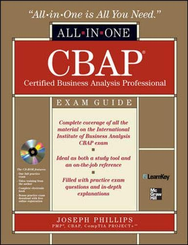 9780071626699: CBAP Certified Business Analysis Professional All-in-One Exam Guide with CDROM