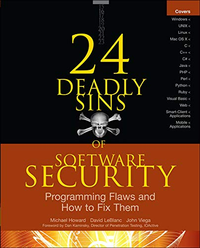 9780071626750: 24 Deadly Sins of Software Security: Programming Flaws and How to Fix Them (Networking & Comm - OMG)