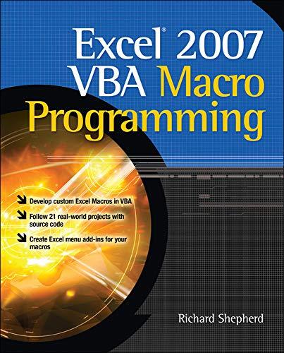 9780071627009: Excel 2007 VBA Macro Programming