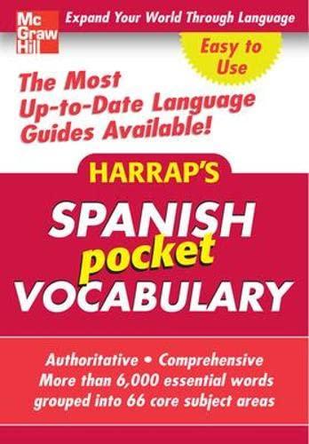 9780071627443: Harrap's Pocket Spanish Vocabulary