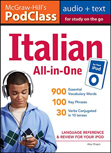 9780071627528: McGraw-Hill's PodClass Italian All-in-One Study Guide (MP3 Disk): Language Reference and Review for Your iPod