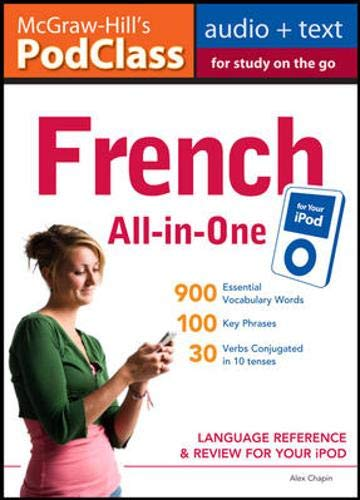 9780071627627: McGraw-Hill's PodClass French All-in-One Study Guide (MP3 Disk): Language Reference and Review for Your iPod