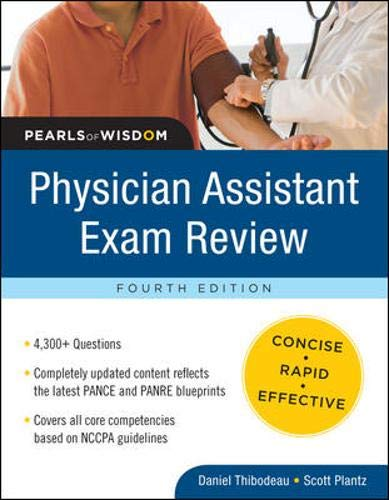 9780071627719: Physician Assistant Exam Review:  Pearls of Wisdom, Fourth Edition