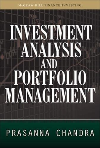 9780071627726: Investment Analysis and Portfolio Management