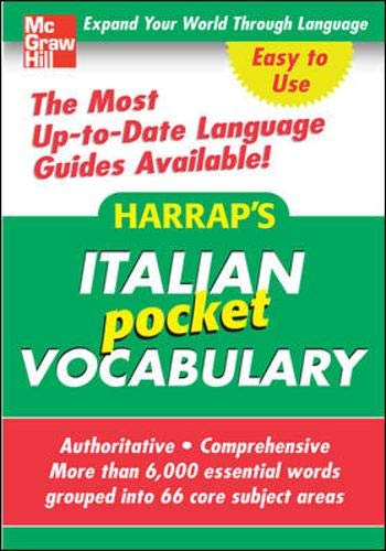 9780071627917: Harrap's Pocket Italian Vocabulary (Harrap's Phrasebook Series)