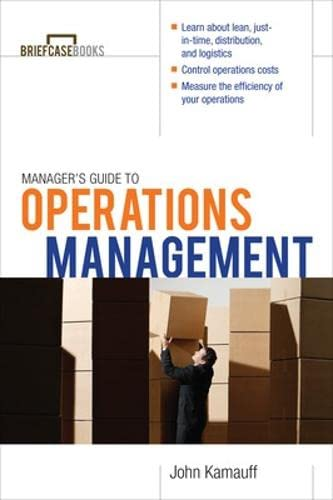 9780071627993: Manager's Guide to Operations Management (Briefcase Books (Paperback))
