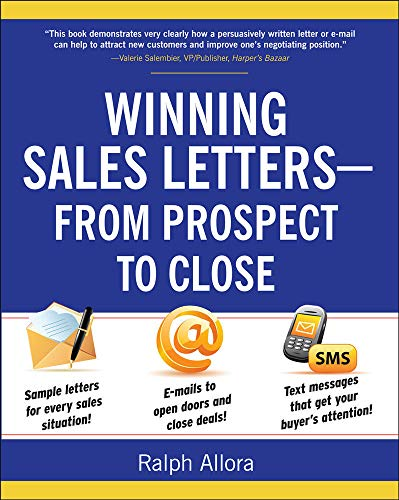9780071628112: Winning Sales Letters From Prospect to Close (Business Books)