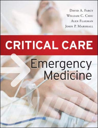 9780071628242: Critical Care Emergency Medicine