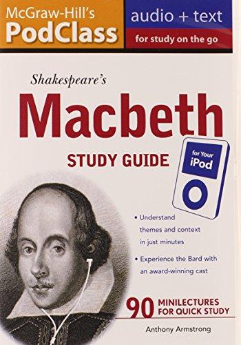 9780071628419: McGraw-Hill's PodClass Macbeth Study Guide (MP3 Disk)