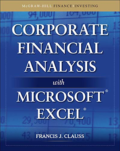 9780071628853: Corporate Financial Analysis with Microsoft Excel (McGraw-Hill Finance & Investing)