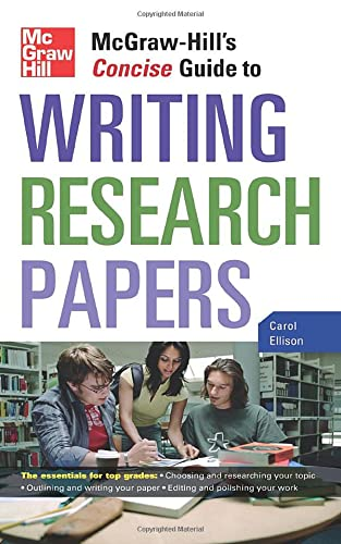 9780071629898: McGraw-Hill's Concise Guide to Writing Research Papers (Perfect Phrases Series)