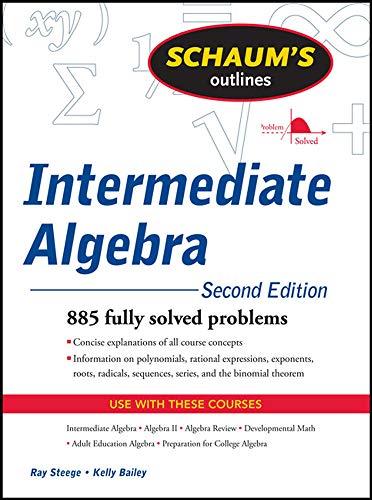9780071629980: Schaum's Outline of Intermediate Algebra, Second Edition (Schaum's Outlines)