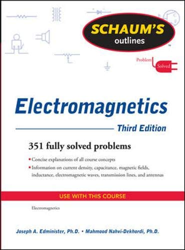 9780071632355: Schaum's Outline of Electromagnetics, Third Edition (Schaum's Outline Series)