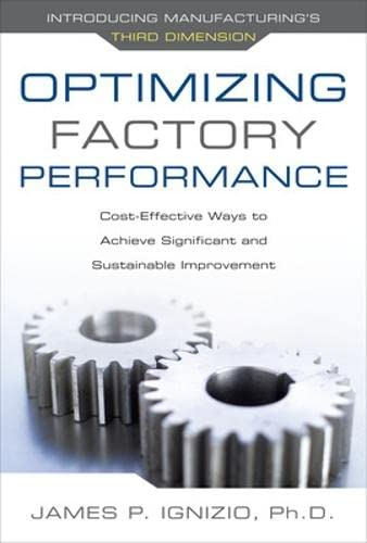 9780071632850: Optimizing Factory Performance: Cost-Effective Ways to Achieve Significant and Sustainable Improvement