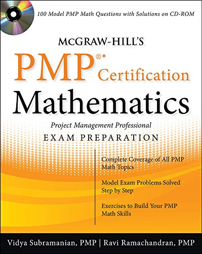 9780071633055: McGraw-Hill's PMP Certification Mathematics with CD-ROM
