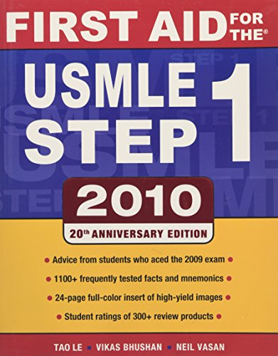 9780071633406: First Aid for the USMLE Step 1, 2010