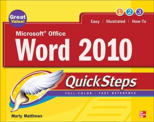 9780071634878: Microsoft Office Word 2010 QuickSteps