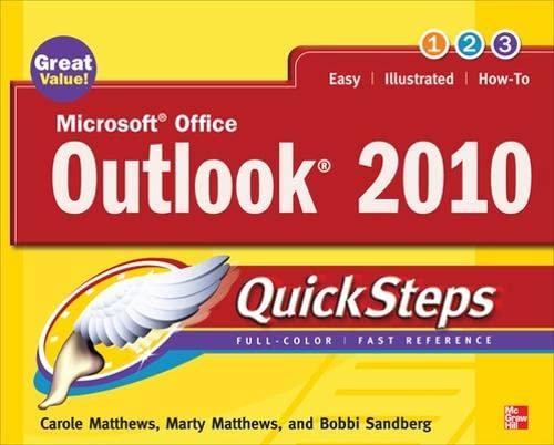 9780071634960: Microsoft Office Outlook 2010 QuickSteps